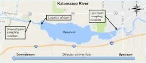 map of reservoir