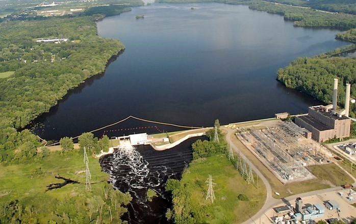 Arial photo or Morrow Dam